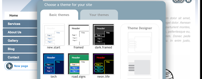SimDif Theme Select