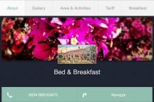GoDaddy GoMobile site on small screen