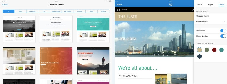 Weebly Themes Design
