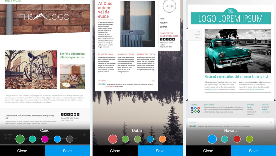 Jimdo iPhone App Screenshot