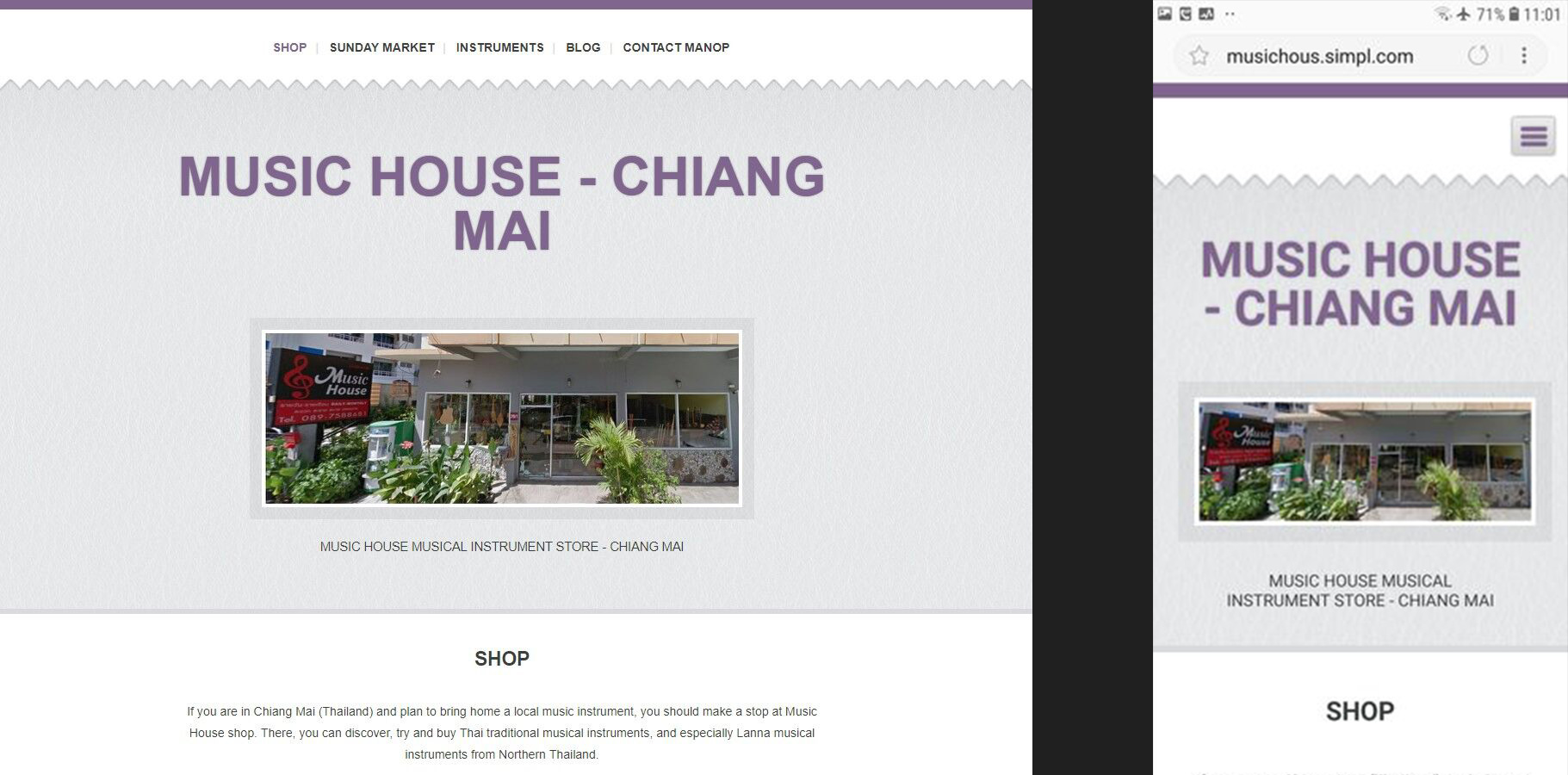 Website made with Simpl