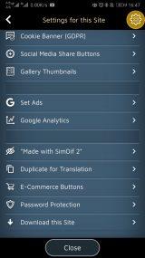 Site settings 2