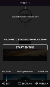 Strikingly editor